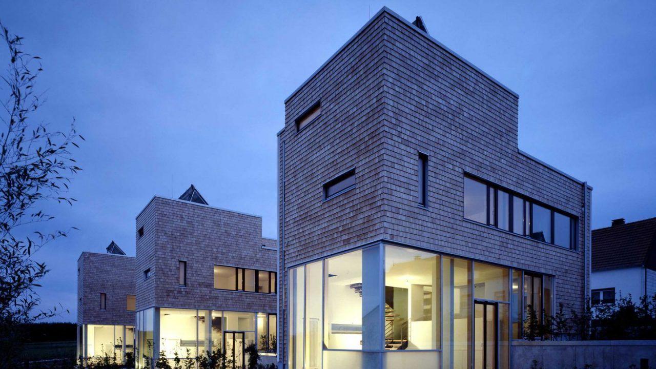 bund deutscher architekten drei h user in reihe arnsberg. Black Bedroom Furniture Sets. Home Design Ideas