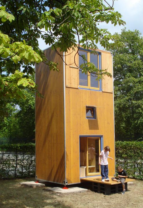 Bund deutscher architekten homebox mobiles minihaus im for Holzcontainer haus