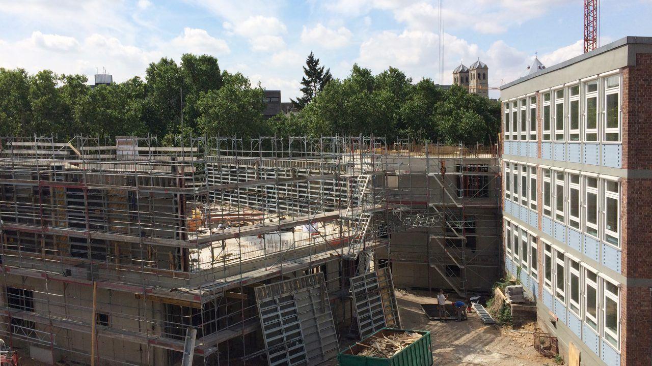 Blick auf die Baustelle der Bildungslandschaft Altstadt Nord. © gernot schulz : architektur GmbH