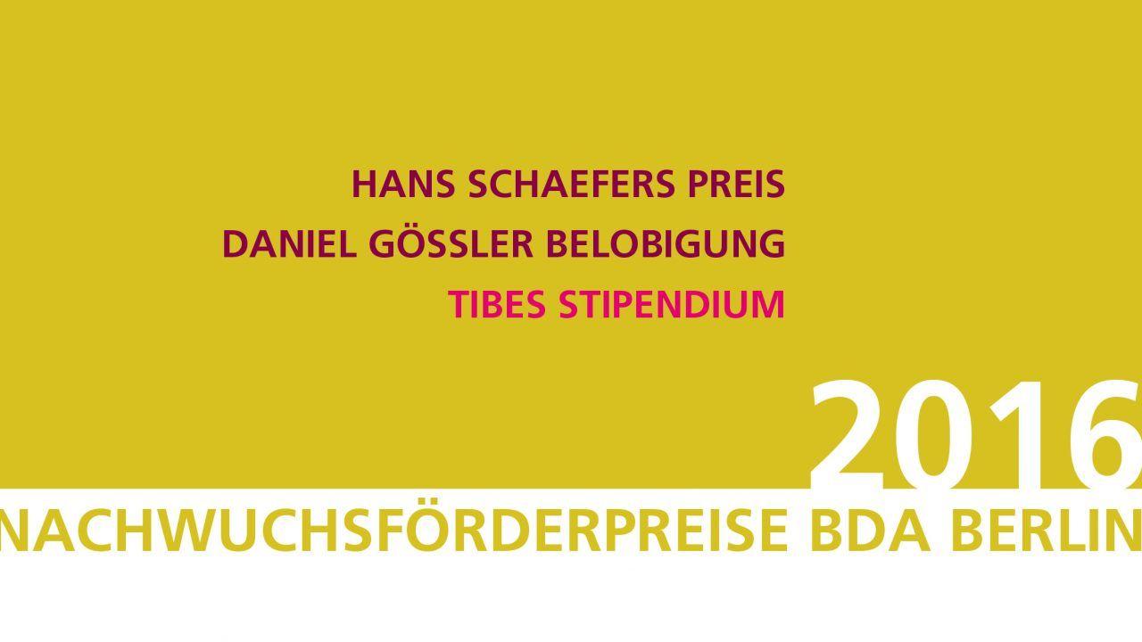 BDA Berlin Nachwuchsförderpreise 2016