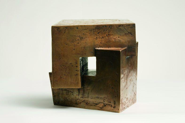 """Durchblick"", Fero Freymark, Bronze Skulptur"