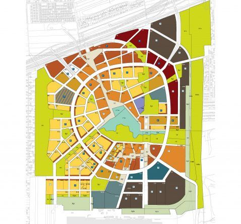 Seestadt Aspern, Nutzungs- und Freiflächenplan, wien 3420 AG