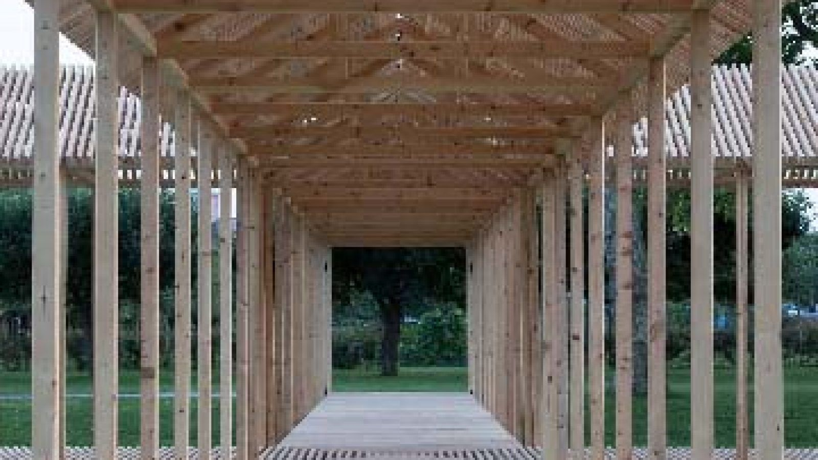Temporary Allé Pavilion, Royal Garden, designed by Krupinski/Krupinska Arkitekter, Stockholm and Per Olsen, Arkitekt m.a.a., Copenhagen; Foto: Hampus Berndtson