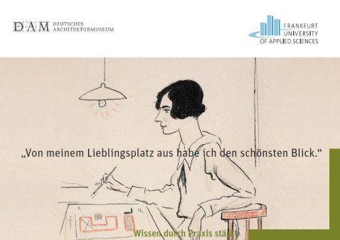 """Zeichnung: """"Margarete Schütte-Lihotzky"""", Porträtzeichnung von Lino Salini, 1927. Quelle: Historisches Museum Frankfurt."""