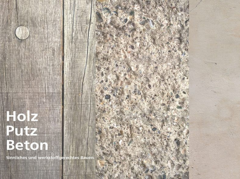 Beton Putz bund deutscher architekten holz putz beton sinnliches und