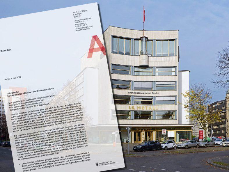 Bund Deutscher Architekten Offener Brief Zur Berliner