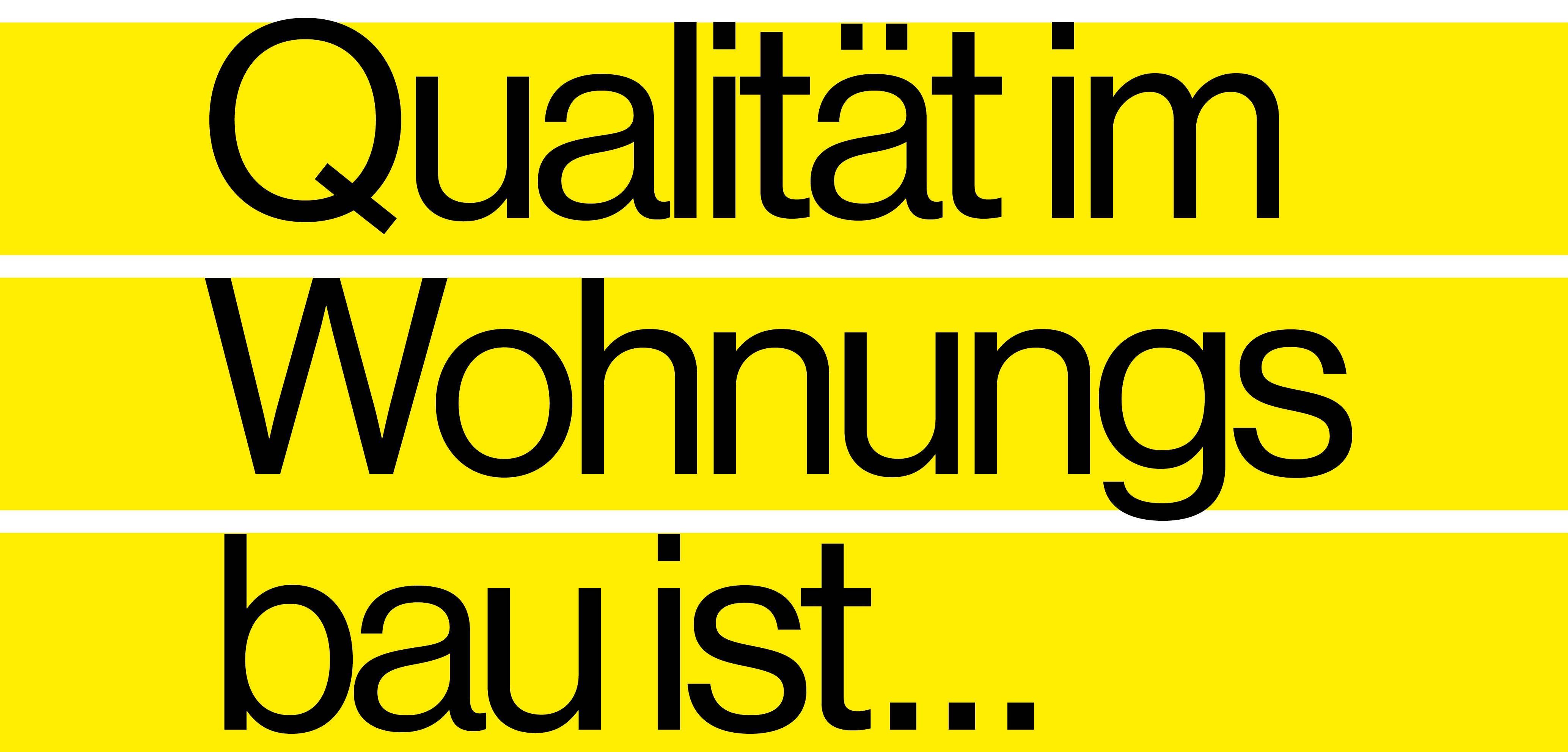 """""""Bezahlbar Wohnen Aber mit Qualität """" – Rahmenprogramm"""