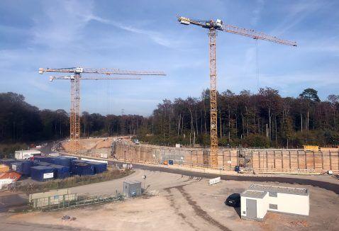 Baustelle des Teilchenbeschleunigers. Foto: FG EUS
