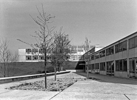 HfG-Gebäude, Foto: Ernst Scheidegger, © Stiftung Ernst Scheidegger-Archiv Zürich